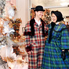 John P. Cleary |  The Herald Bulletin<br /> Josh McNabney and his mother Sharon McNabey  get in the holiday spirit  as they prepare to show off their 1860's period outfits at a vintage style show presented by the Gruenewald Historic House Tuesday at the Paramount Threatre Ballroom.  The proceeds benefited the Gruenewald House and the Paramount Theatre.