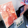 Don Knight | The Herald Bulletin<br /> A photo of Command Sgt. Maj. Arthur Leak as a young private was on display at Sherman St. Church of God during his retirement ceremony in October. Leak served over 39 years originally enlisting in 1976.