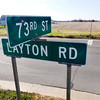 John P. Cleary |  The Herald Bulletin<br /> Intersection of 73rd Street and Layton Road looking west where there is talk about expanding 73rd Street west.