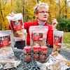 "John P. Cleary |  The Herald Bulletin<br /> Cindy Dunston Quirk shows some of her Scout & Zoe's dog treat products as her growing company has been named one of ""Entrepreneur Magazine's"" 360 best entrepreneurial companies."