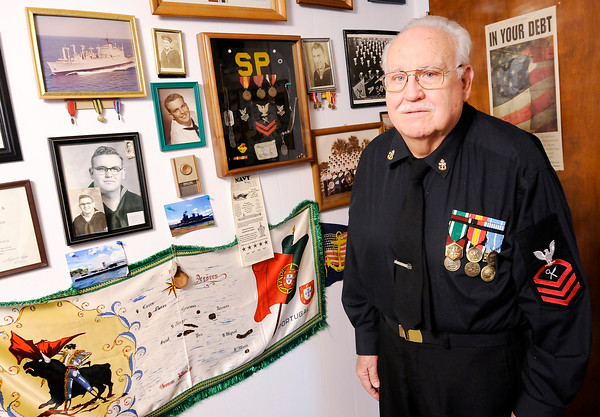 Don Knight   The Herald Bulletin<br /> William Irwin served in the Navy during the Korean War.