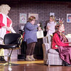 Mark Maynard | For The Herald Bulletin<br /> Truvy (Allison Hughel-Cage), Annelle (KIrby Gilliam) and Shelby (Katherine Jones) look at a new Christmas ornament while M'lynn (Karen Lynn Sipes) worries about her diabetic daughter Shelby's decision to become pregnant.