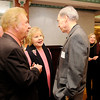 Don Knight | The Herald Bulletin<br /> Bill and Gloria Gaither talk to Mike Austin during the Boy Scouts Distinguished Citizens awards dinner at the Paramount on Wednesday. The Gaithers received the Madison County Distinguished Citizen Award for 2016.
