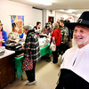 "John P. Cleary |  The Herald Bulletin<br /> Cross Roads United Methodist Church held their Lawson-Wellman Memorial Thanksgiving Dinner for the community Tuesday afternoon as ""pilgrim"" Pastor John Hackney looked over the festivities. This was the church's 14th year of hosting the community feast."