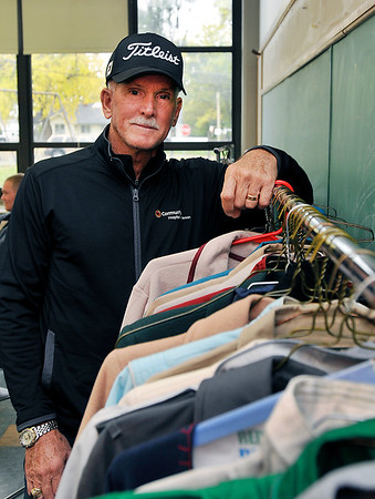 John P. Cleary    The Herald Bulletin<br /> Environmental shot of Keith Trent, founder of Coats of Caring.