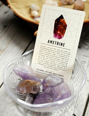Don Knight |  The Herald Bulletin<br /> Ametrine crystals for sale at Twisted Twigs on Meridian Street in Anderson.