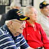 John P. Cleary |  The Herald Bulletin - Veterans Tab<br /> Korean War veterans monthly meeting October 9, 2017 held at the 40 & 8.<br /> Robert Schepper, foreground, listens to the meeting along with other Korea veterans.