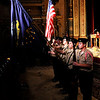 Don Knight |  The Herald Bulletin<br /> The color guard from the Naval Junior Reserve Officers Training Corp from Anderson High School presents the colors during the Madison County Veterans Day Celebration at the Paramount on Thursday.