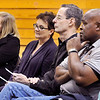 John P. Cleary |  The Herald Bulletin<br /> People listen to the presentation during the first Anderson Community Schools bond referendum community meeting held Monday evening at Tenth Street Elementary School.