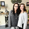 Don Knight |  The Herald Bulletin<br /> From left, Brytneigh Burgess and Kinsley Atkins are co-owners of Twisted Twigs on Meridian Street in Anderson.