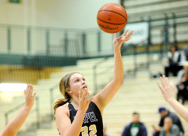 Don Knight   The Herald Bulletin<br /> Lapel's Bree Boles drives into the lane as the Bulldogs traveled to Westfield on Wednesday.