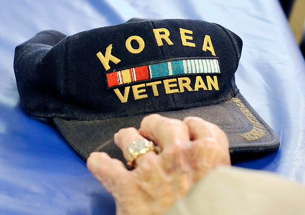 John P. Cleary |  The Herald Bulletin - Veterans Tab<br /> Korean War veterans monthly meeting October 9, 2017 held at the 40 & 8.