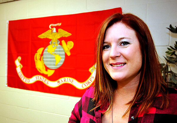 John P. Cleary    The Herald Bulletin<br /> Jennifer Tyler is a Marine veteran and is a Veterans Service Officer at Madison County Veterans Affairs.