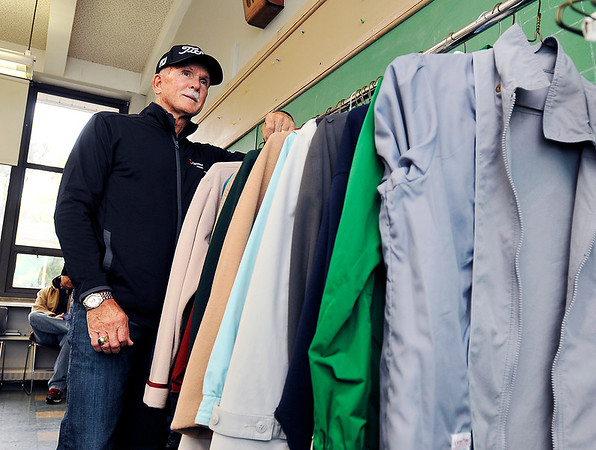 John P. Cleary |  The Herald Bulletin<br /> Environmental shot of Keith Trent, founder of Coats of Caring.