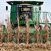 John P. Cleary | The Herald Bulletin<br /> Ousley Farms harvests the last of the 500 acres of corn they planted this year as they work the field on 300 North, north of State Road 28 Tuesday. Along with the corn, Ousley planted about 1500 acres of soybeans this year also.