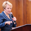Don Knight | The Herald Bulletin<br /> Ivy Tech president Sue Ellspermann speaks during the Women in Philanthropy luncheon at the Anderson Country Club on Thursday.