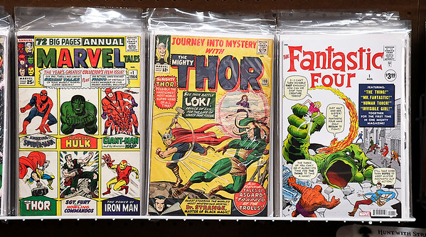 John P. Cleary | The Herald Bulletin<br /> Rembert N. Parker talks about knowing Stan Lee and his impact with Marvel Comics.