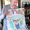 John P. Cleary | The Herald Bulletin<br /> When Dave Moore was diagnosed with Diffuse Large B-Cell Lymphoma he was substitute teaching at Elwood Jr-Sr High School. During his surgery and treatments students from the school sent him this giant Get Well card to lift his spirts.