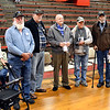 John P. Cleary | The Herald Bulletin<br /> These military veterans were recognized at the Veterans Day program at Liberty Christian secondary campus Thursday. They are James Ice, Jim Harlan, Andrew Greenlee Sr., Terry Boldizsar, Bob Boone, Anthony Dalton, and Paul Ward.