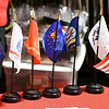 John P. Cleary | The Herald Bulletin<br /> Veterans Day program at Liberty Christian secondary campus had flags of the six branches of the military.