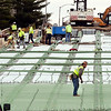 John P. Cleary | The Herald Bulletin<br /> Workers for Primco Inc. were busy putting down rebar on the eastbound lanes of the Eisenhower Bridge Wednesday as work continues on the $ 17 million project. The eastbound lanes are scheduled to be done by April 2019 with the total project completed by June of next year.