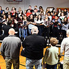John P. Cleary | The Herald Bulletin<br /> Veterans Day program at Liberty Christian secondary campus. The Liberty Christian choir sings the different military theme songs.
