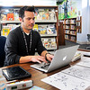John P. Cleary | The Herald Bulletin<br /> Brad Sowinski, children's librarian at Alexandria Public Library, for millennials voting story.