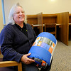 Don Knight | The Herald Bulletin<br /> Jennifer Baylor buys sleeping bags for homeless people she has met as part of her job working security at the Anderson Library.