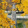 John P. Cleary | The Herald Bulletin<br /> The golden colors of the maple trees that line the east bank of the pond in Falls Park in Pendleton frames the landmark lighthouse that stands in the center of the water.