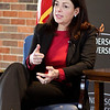 John P. Cleary | The Herald Bulletin<br /> Former U.S. Senator Kelly Ayotte visited Anderson University Wednesday where she met with students then had a public forum at Reardon Auditorium.