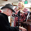 John P. Cleary | The Herald Bulletin<br /> The Isabel Society held their Fall luncheon Wednesday at the Harter House where guests were entertained by Martha Green and Dan Daugherty.