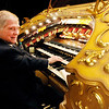 Don Knight | The Herald Bulletin<br /> George Smith plays the Paramount's historic organ during the Festival of Trees  Gala on Saturday.