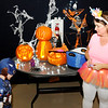 Don Knight | The Herald Bulletin<br /> Dressed as Captain America Bentley Dyer, 5, walks up to the table decorated by Kim Williams during a Trunk-n-Treat at Wesley Free Methodist Church on Tuesday.