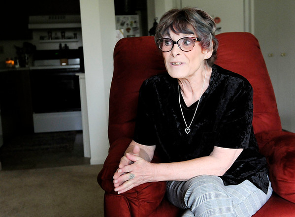 Don Knight | The Herald Bulletin<br /> Army veteran Lois Stewart talks about her time serving in military intelligence in Germany during the Cold War.