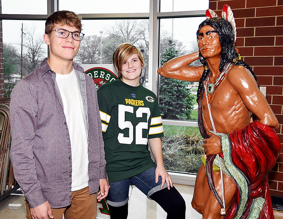 John P. Cleary | The Herald Bulletin<br /> Anderson High School students William Wood and Mackenna Hawes have received National Merit Commendations for being in the top five percent nationally for their SAT test scores.