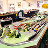 John P. Cleary | The Herald Bulletin  THB file photo<br /> Roger Hensley works on the HO scale model train layout at the Madison County History Center in this THB file photo.