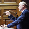 John P. Cleary | The Herald Bulletin<br /> Indiana Speaker of the House Brian Bosma addresses House members on Organization Day Tuesday setting a challenging tone for the upcoming session.