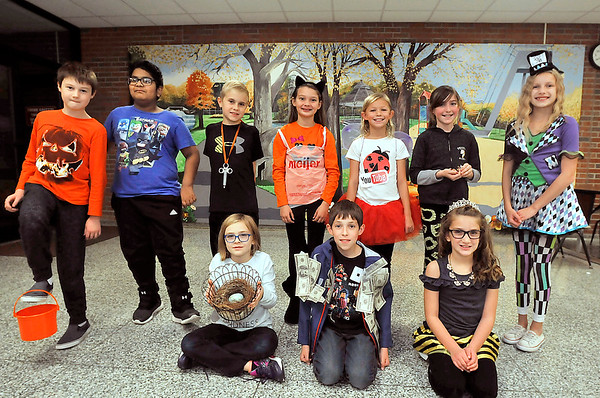 John P. Cleary   The Herald Bulletin<br /> Pendleton Elementary School held a Idiom Dress Up Day Wednesday where students dressed up as their favorite phrases rather than in traditional Halloween costumes.