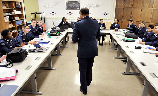 John P. Cleary   The Herald Bulletin<br /> Air Force Reserves veteran Obadiah Smith Jr. is the senior aerospace science instructor and senior officer for the Junior ROTC program at Anderson Preparatory Academy.