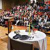 John P. Cleary | The Herald Bulletin<br /> The guest speaker for the Veterans Day program at Liberty Christian secondary campus Thursday morning was US Air Force veteran Paul Ward.