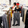 Don Knight | The Herald Bulletin<br /> Janae Graves and her grandmother Mary Graves shop for clothes at Roses on Thursday.