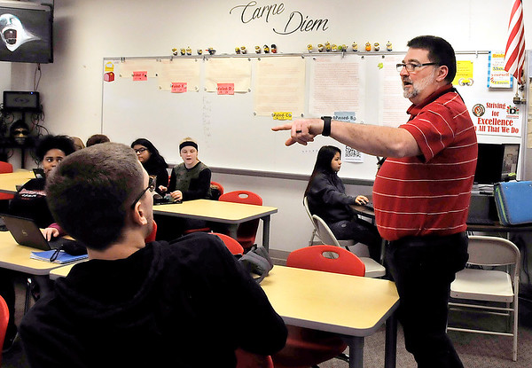 John P. Cleary | The Herald Bulletin<br /> Anderson High School English teacher Todd Callen is to be honored by the National Council of Teachers of English.