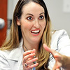 John P. Cleary   The Herald Bulletin<br /> Community Hospital cardiologist Dr. Anne Ford discusses different aspirin studies and their findings.