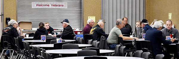 This is the fourth year that the Madison-Grant Jr.-Sr. High School Athletic Department provided breakfast for local veterans on Veterans Day at the school where they could visit with students and fellow veterans.