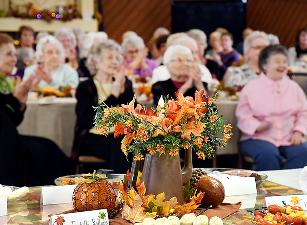 The Isabel Society held their Fall Harvest luncheon Wednesday for their members and guests at the Harter House.