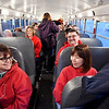 The Anderson Federation of Teachers supplied four buses for ACS teachers to attend the Red for Ed rally at the Indiana Statehouse Tuesday morning.