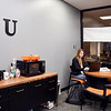 Shannon Galyan, 35, a Anderson University sophomore, studies in the newly created Adult Studies Center, a space converted in the basement of Decker Hall for adult students use for studying, networking or socializing with other nontraditional students.