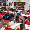 Anderson Preparatory Academy Elementary School kindergarten teacher Julie Reed conducts her class recently.