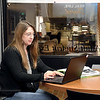 Shannon Galyan, 35, a triple major in political science, philosophy and economics at Anderson University, does a lot of her studying in the newly created Adult Studies Center in the basement of Decker Hall.