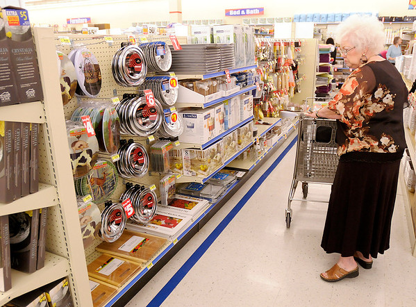 Liz Rodney shops at Roses in Anderson during the store's grand opening on Thursday. Rodney was the first customer in Roses when the store opened for the first time on Tuesday.